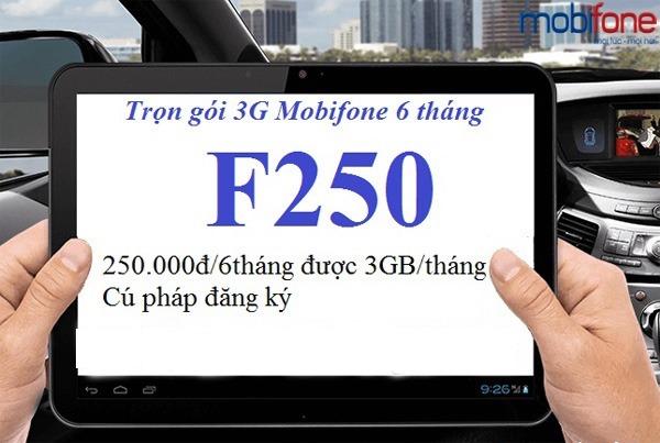 Hướng dẫn đăng ký gói cước F250 Mobifone.