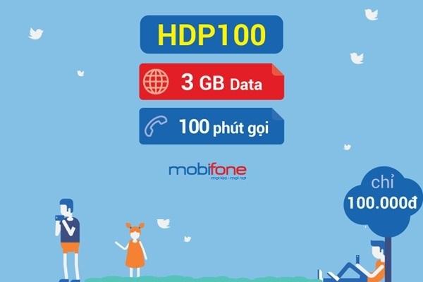 Hướng dẫn đăng ký gói HDP100 Mobifone có ngay 3GB data tốc độ cao và 100 phút gọi nội mạng.