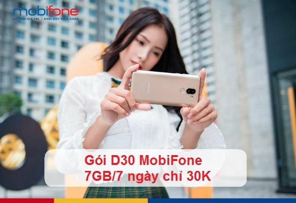Hướng đăng ký gói D30 Mobifone.