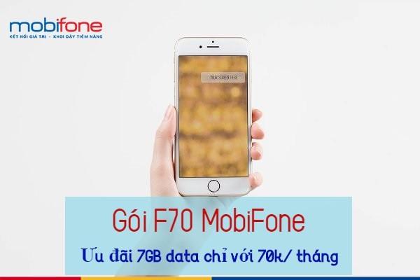 Hướng dẫn đăng ký gói F70  cho thuê bao Fast Connect nhận 7GB data chỉ 70K 1 tháng.