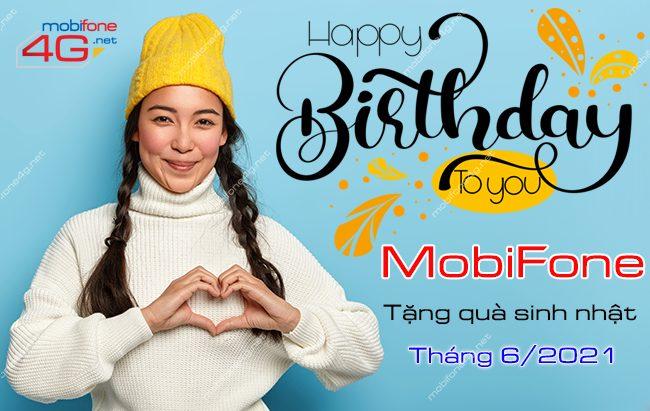 Mừng sinh nhật tháng 6 MobiFone tặng quà lên đến 500K