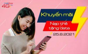 MobiFone khuyến mãi nạp thẻ tặng data ngày 25/8/2021 lên đến 10GB